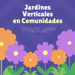 Jardines verticales en comunidades